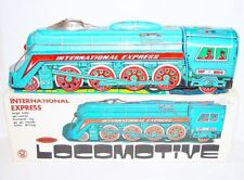 China MF-804 STREAMLINED STEAM LOCOMOTIVE Friction Tin Toy Train MIB`78 TOP RARE