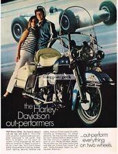 1969 Harley-Davidson Electra Glide Motorcycle Vtg Print Ad