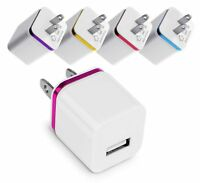 5-Pack 5V USB Plug Charger Wall Plug Power Adapter Fast Charging Output 1A Cu...