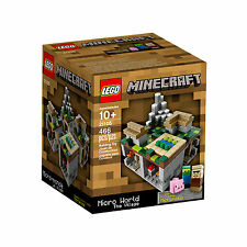 CLEARANCE LEGO Minecraft Micro World The Village #21105 BNIB Rare 2013 Release