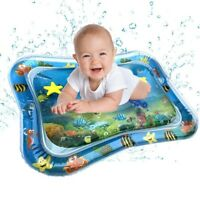Inflatable Water Play Mat Infants Toddlers Fun Tummy Time Play Activity Center T