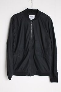 Pull and Bear Mens Bomber Jacket - Black - Size Large L (V-B9)
