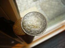 1882 H Newfoundland 50 Cent Silver Coin