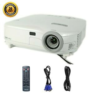 NEC VT47 3LCD Projector Portable 1500 Lumens HD 1080i w/Accessories TeKswamp