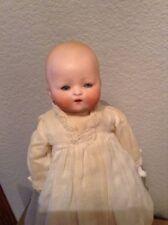 "Vintage 12"" Sweet Little Bisque German Blue Eyed Baby 377-3/0 DRG"