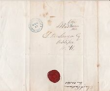 1840 RED WAX SEAL of the U.S. HOUSE OF REPRESENTATIVES -  IRA A. EASTMAN letter