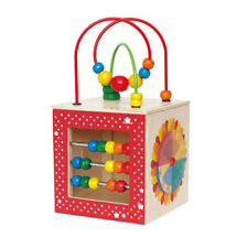 Hape Kids Educational Wooden Discovery Box Bead Maze Activity Center Baby Toy