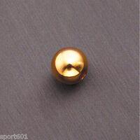 1PCS 3MM solide AU585 14K Gelb Gold / perfekte DIY-Bead Armband