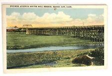 Vintage Postcard Fourth Avenue South Hill Bridge Moose Jaw Saskatchewan Canada