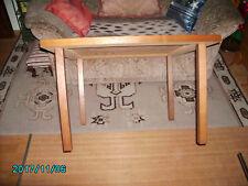 Mesa auxiliar mesa de sofá sofá mesa masivholz piernas llena de madera