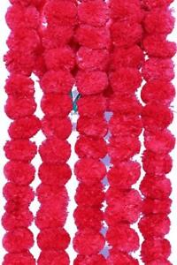 Wholesale Lot 20 PC Red Artificial Marigold Flower decor Garlands Wedding Indian