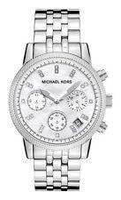 Runde Michael Kors Armbanduhren aus Edelstahl mit 12-Stunden-Zifferblatt