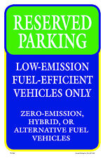"RESERVED PARKING 12""x18"" METAL/PVC SIGN"