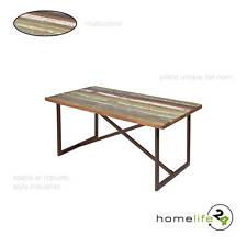 Table de salle à manger unique style Vintage rouille used Paintwork bois de m...
