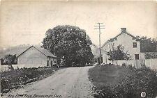 C82/ Bridgeport Ohio Postcard 1909 Big Elm Tree Home Barn Belmont County