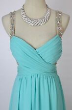 Roberta $160 Seafoam Evening Prom Formal Cruise Cocktail Long Gown Dress size 13