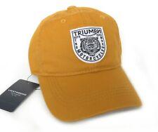 NWT LUCKY BRAND BASEBALL HAT CAP, TRIUMPH MOTORCYCLE, TIGER, MUSTARD
