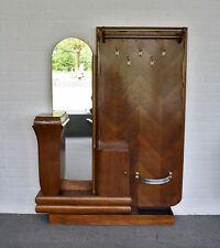 antike Garderobe im Dekóstil aus Eiche großer Spiegel & Schrankelement