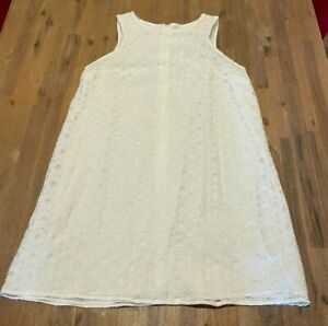 Ladies size 20 white lace overlay lined summer sleeveless Dress Target