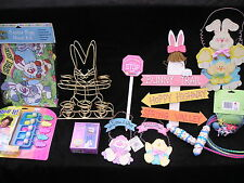 Asst of 10 Easter Egg Hunt Rare Items Ribbons Prizes Bunny Rabbit Signs New 2.50