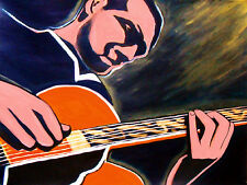 KENNY BURRELL PRINT poster jazz d'angelico archtop guitar midnight blue note cd