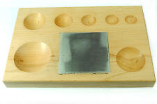 Proops Wood Doming Dapping Block with Steel Bench Block Jewellery Making J1191