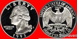1995 S Clad Washington Quarter Deep Cameo Gem Proof No Reserve