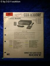 Sony Service Manual CDX U300RF CD Wechsler (#0059)