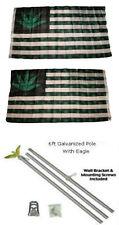 3x5 5 Point Weed Usa Marijuana 2ply Flag Galvanize 00004000 d Pole Kit Eagle Top 3'x5'