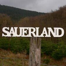 Sauerland Schriftzug aus Holz 60cm weiß Buchstaben Wanddeko Holzschild NEU