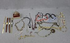 Mixed Lot of Ladies Watches and Costume Jewelry Necklaces Bracelets