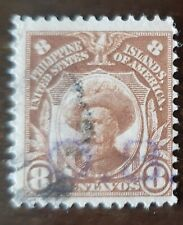 Philippines stamp hand stamped O.B. on 8 centavos used never hinged..