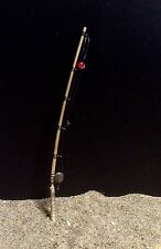 "Handmade Miniature Fishing Pole Bamboo Rod 5"" To 6"" Long Nautical 1:12"