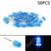 50Pcs 5mm Blue Color Diffused LED Light Round Top Emitting Diode Lamp DIY F3 BS5
