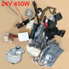 24V 450W Electric Bike Accessories Geared Brush Motor Cycling Conversion+Charger