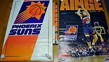 GREAT PAIR OF VINTAGE PHOENIX SUNS POSTERS DANNY AINGE & LOGO SET NO PINS TEARS