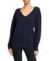NEW Vince Weekend Cashmere Sweater in Navy - Size M #S3033