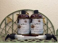 WEN FALL WHITE PUMPKIN CONDITIONER~2 16oz=32oz ~SEALED~~WITH PUMP NEW FALL SCENT