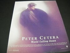PETER CETERA says THE WORLD IS FALLING DOWN 1992 Promo Poster Ad mint condition
