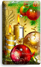 CHRISTMAS TREE ORNAMENTS CANDLES SINGLE LIGHT SWITCH WALL PLATE COVER HOME DECOR