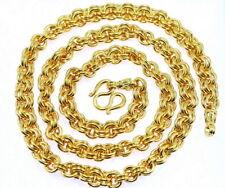 "HEAVY Men Chain 27.5"" Thai Classic Baht Necklace 22K 24K Gold GP Jewelry GT51"