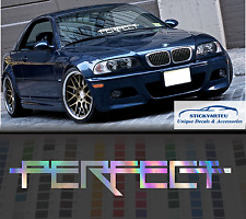 "Perfect oil Slick Neocrome rainbow Windshield Sticker Decal 24"" JDM Mugen"