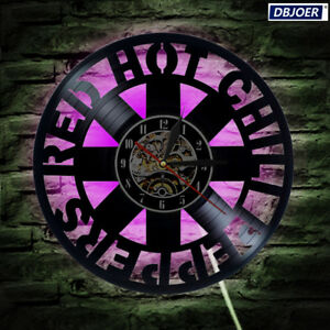LED Red Hot Chili Peppers vinyl record wall clock fan gift home decor room art