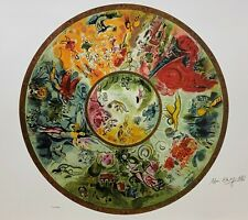 """MARC CHAGALL """"Paris Opera Ceiling"""" Limited Edition Colour Lithograph"""