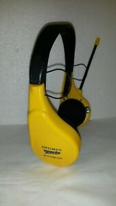 Vintage Radio Shack Optimus Sports AM/FM Stereo Headphones Yellow Working