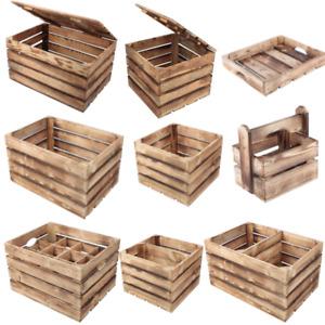 Holzkiste Truhe Geflammte Apfelkisten Obstkisten Holz Betttablett Flaschenträger