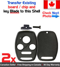 2x New Replacement Keyless Remote Control Key Fob Shell Case For Honda Acura