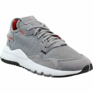 adidas Nite Jogger   Lace Up  Kids Boys  Sneakers Shoes Casual   - Grey - Size 2