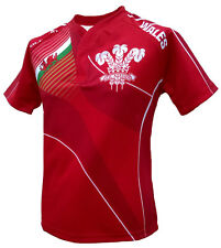 Olorun Wales Home Nations Sublimated Supporters Rugby Shirt S-7XL