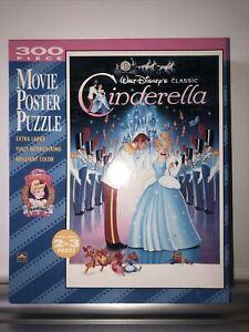 Vintage Disney's CINDERELLA Movie Poster Jigsaw Puzzle by Golden 300 Pieces